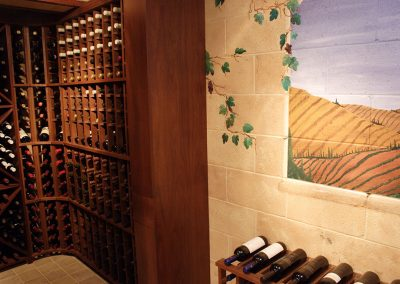 Brookfield Wine Cellar with Hand Painted Mural