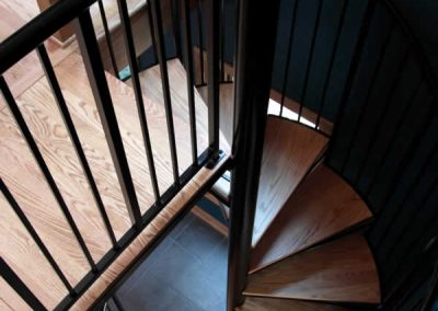 Mequon Wrought Iron & Wood Spiral Staircase