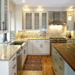 Kitchen Remodel in Mequon with Custom Glass Backsplash Tile
