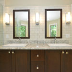 subway-tile-backsplash-vanity-custom-built-wood-cabinet-mirrors-mequon-wisconsin