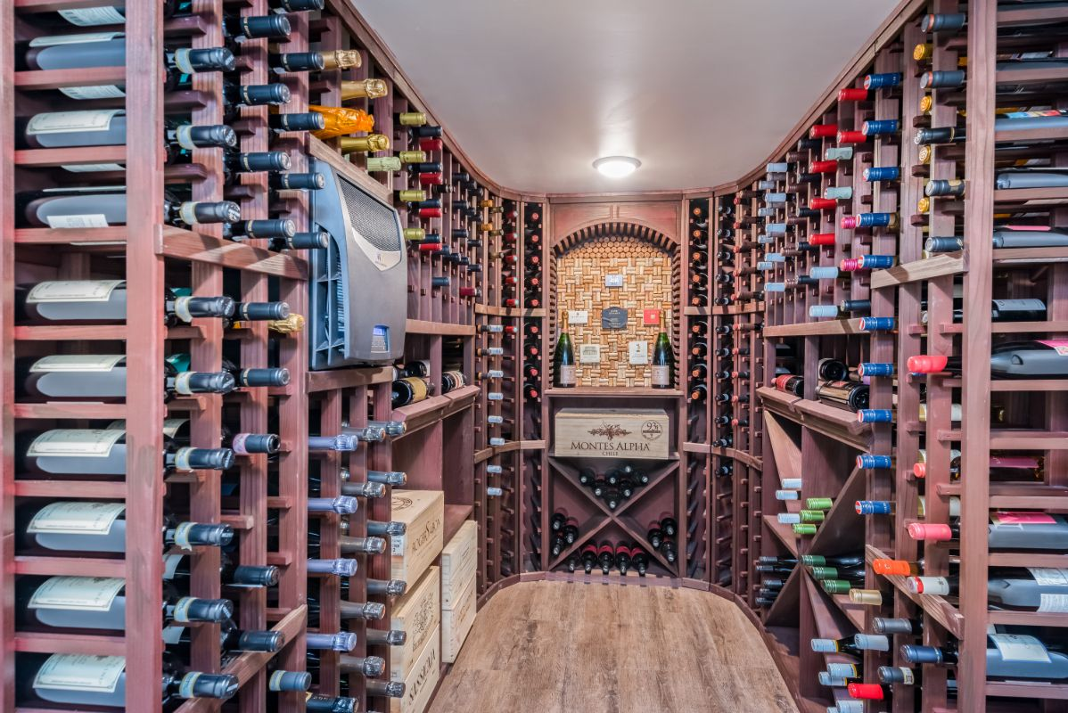 custom-built-wine-cellar-custom-cork-board-LV-Floors-custom-wine racks-lake-drive-Milwaukee