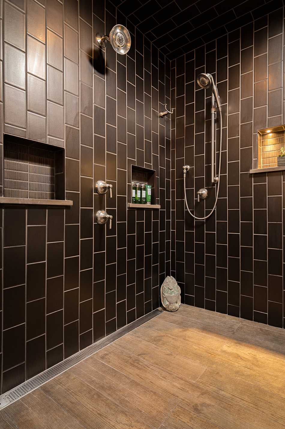 large-shower-linear-drain-niche-built-in-multiple-shower-heads-buddha-milwaukee