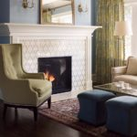 Fireplace-custom-tile-mantel-wood-painted-white-whitefish-bay-wisconsin