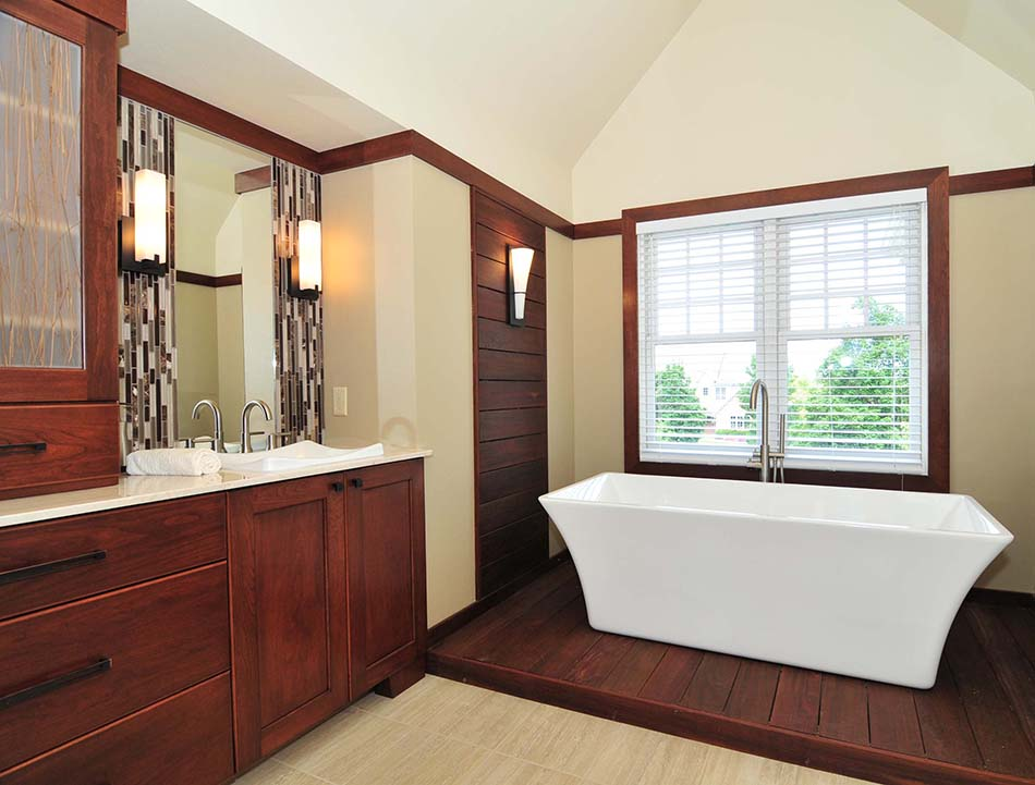 soaking-freestanding-tub-built-in-ipe-wood-deck-wall-panel-remodel-master-bathroom