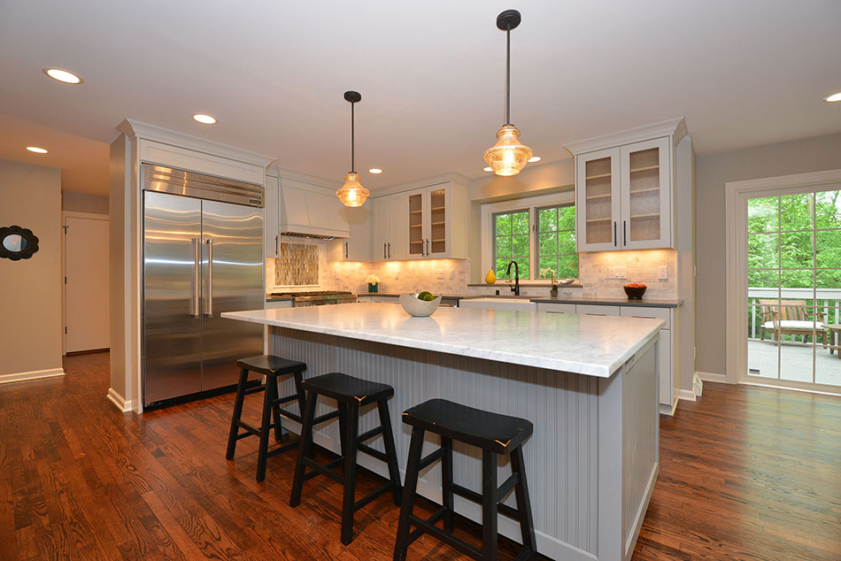large-kitchen-island-stainless-refrigerator-mequon-estate