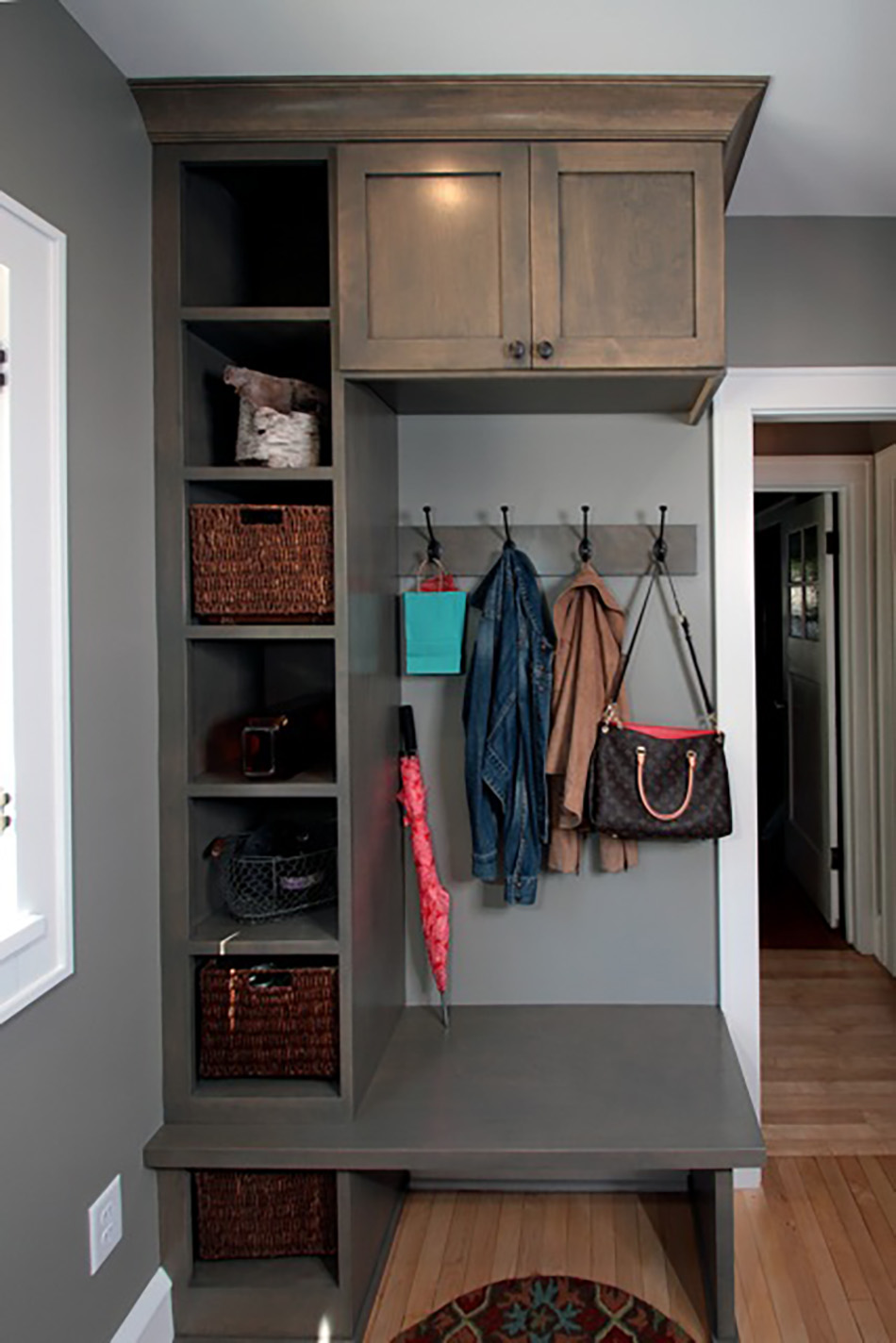 mudroom-built-in-cubes-hanging-rack-custom-remodel-wisconsin