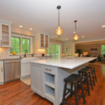 painted-bun-feet-island-marble-overhang-kitchen-countertop