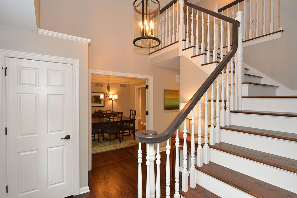 stairway-white-stained-wood-open-concept-Northshore-Mequon