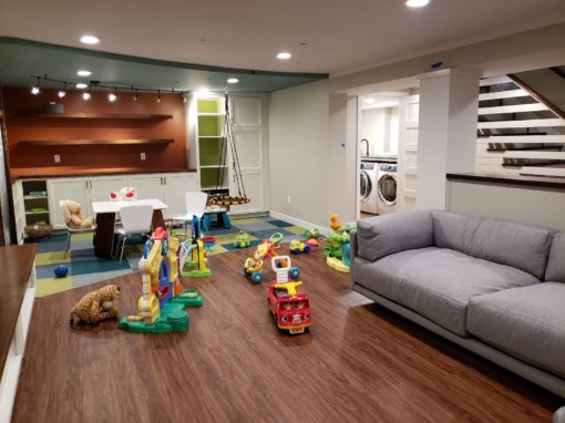 Lower Level Play & Family Fun Room w/ Laundry