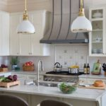 Kitchen-dual-fuel-range-with-griddle-designer-wall-mounted-hood-ceramic-backsplash