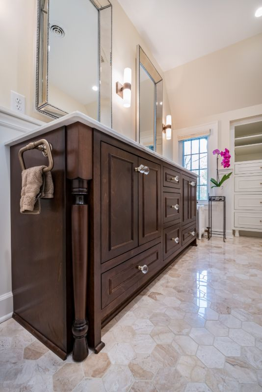 charcoal-stained-cabinets-custom-pedestal-legs-soft-close-drawers-master-vanity-bathroom